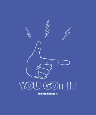 Illustrated T-Shirt Design Creator Featuring a Hand Gesture with a Quote 4017b