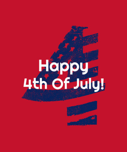 Festive T-Shirt Design Creator to Celebrate the 4th of July 3751b
