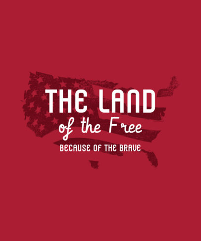 Holiday T-Shirt Design Creator with a Patriotic Quote To Celebrate the 4th of July 3751f