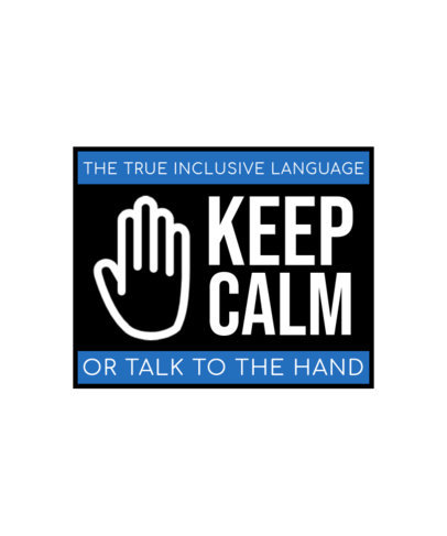 T-Shirt Design Creator with a Sassy Quote for American Sign Language Users 4015f