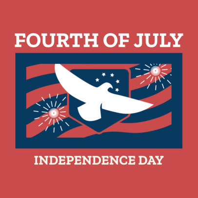 Instagram Post Generator for an American Independence Day with a Flying Dove Graphic 3753d