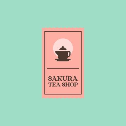 Tea Shop Logo Maker Featuring a Pastel Color Scheme 4031f-el1