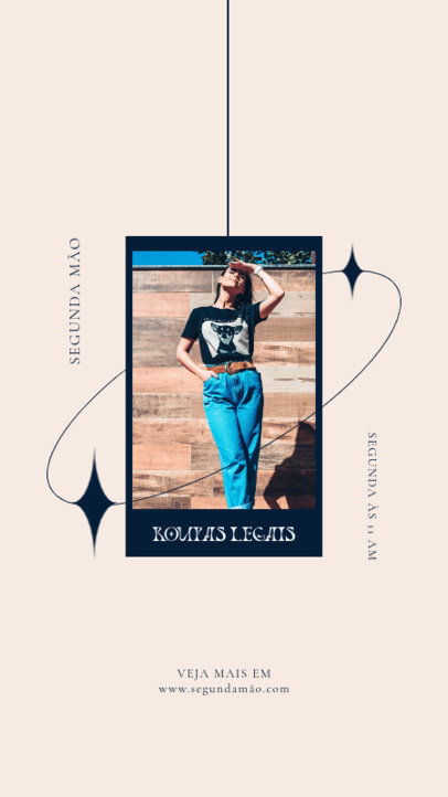 Instagram Story Design Generator with Pictures for a Clothing Brand 4035b-el1