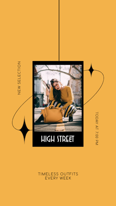 Instagram Story Design Maker for a Clothing Brand with an Elegant Layout 4035a-el1
