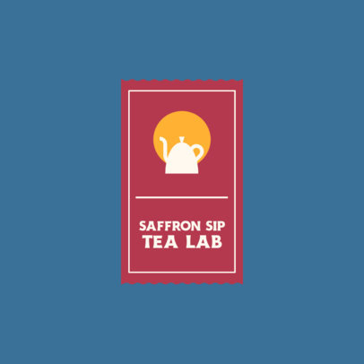Online Logo Generator With a Minimal Style and a Teapot Graphic 4031b-el1