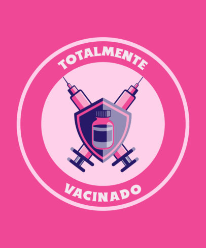 Vaccine-Themed T-Shirt Design Generator with an Epic Emblem Graphic 3742c