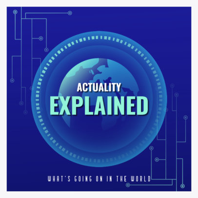 World Affairs Podcast Cover Generator 4398i