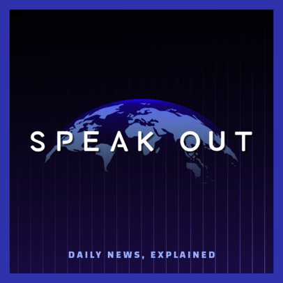 Podcast Cover Generator for a News Analysis Show 4398l