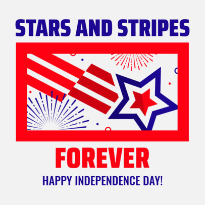 Instagram Post Maker with Stars and Stripes for Independence Day 3753l