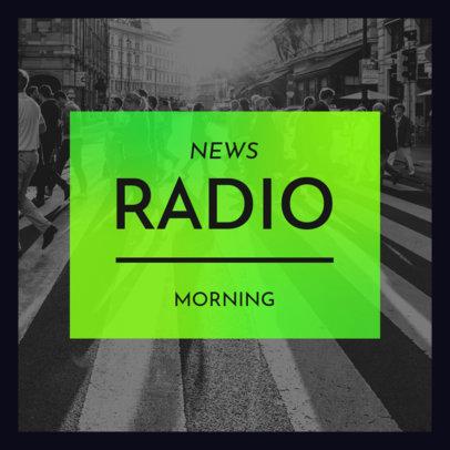 Podcast Cover Design Maker for a News Show 4396c