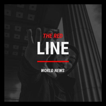 Political Podcast Cover Generator for an International Affairs Show 4396i