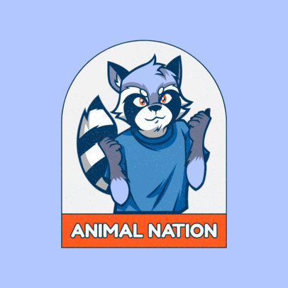 Logo Generator for Gaming Streamers with a Furry Character 4392d