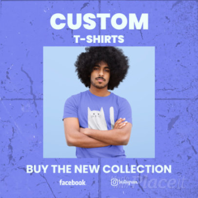 Instagram Video Maker for a Custom T-Shirt Business Featuring Glitchy Animations 2237a 3505