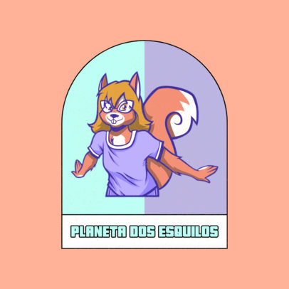 Logo Generator with a Human-Like Chipmunk Character 4392f