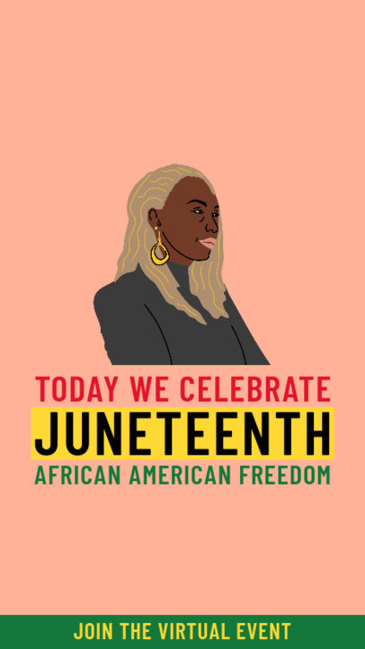 Instagram Story Maker to Announce a Juneteenth Virtual Event 3773c