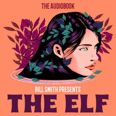 Podcast Cover Maker for a Fantasy Audiobook 3750a