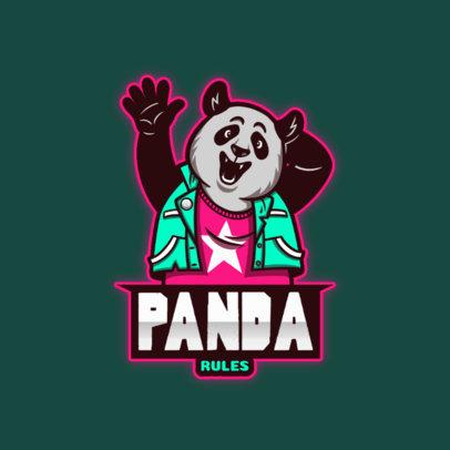 Cool Gaming Logo Maker with a Panda Fursona 4388f