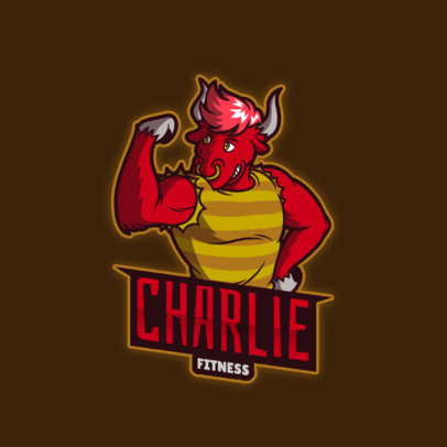 Gaming Logo Maker for Furries with a Bull Character 4388h