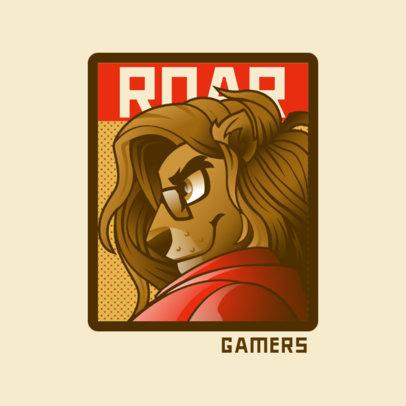 Gaming Logo Generator Featuring an Anthropomorphic Lion 4390g