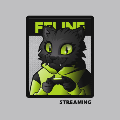Logo Creator for a Gaming Streamer with a Cat Fursona 4390i