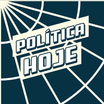Podcast Cover Maker for an International Politics Journalist 4400i