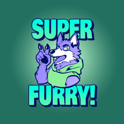 Furry-Themed Logo Generator Featuring an Anthropomorphic Wolf Clipart 4394e