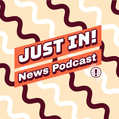 Podcast Cover Maker for a News Program Featuring a Textured Background 4400h