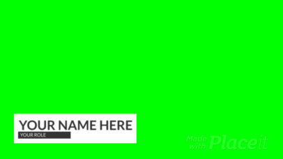 Simple Lower Third Banner Video Generator With Colorful Animations 3015-el1