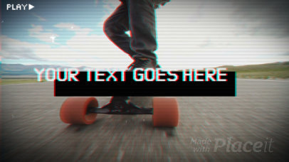 Intro Video Maker with a Retro Style and a Skateboarding Theme 3042
