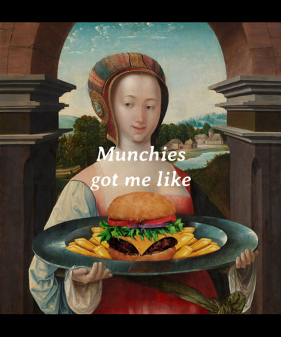 T-Shirt Design Creator Featuring a Renaissance Painting with a Funny Twist 3745f