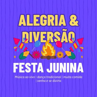 Instagram Post Maker with a Festa Junina Event Info 3715e