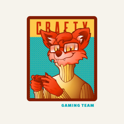 Gaming Team Logo Generator Featuring a Fox Fursona 4390k
