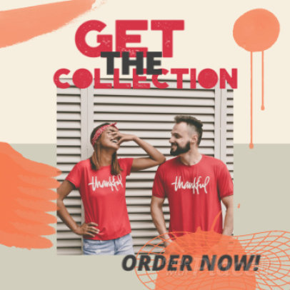 Instagram Post Video Template for a Clothing Collection Ad 2231a 3522
