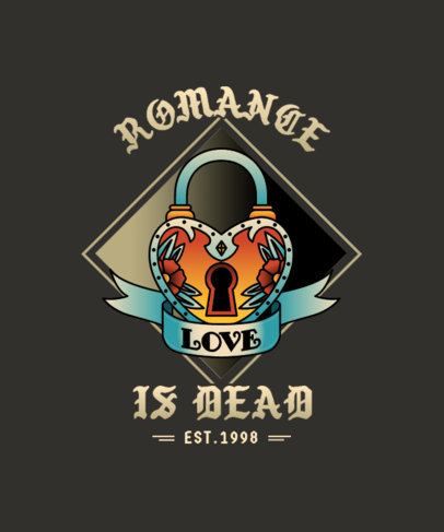 T-Shirt Design Creator with a Heart-Shaped Lock Icon 4049c-el1