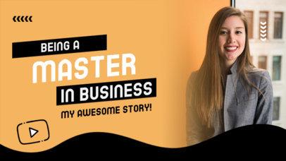 YouTube Thumbnail Design Maker for a Business Master Guideline 4069d-el1