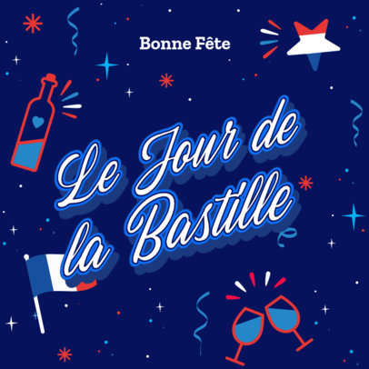 Instagram Post Template for a Bastille Day Celebration Quote 3771d