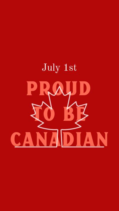 Patriotic Instagram Story Maker To Celebrate Canada Day 3779f