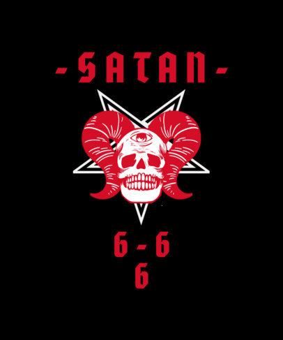 T-Shirt Design Featuring Illustrated Satanic Graphics 3764d