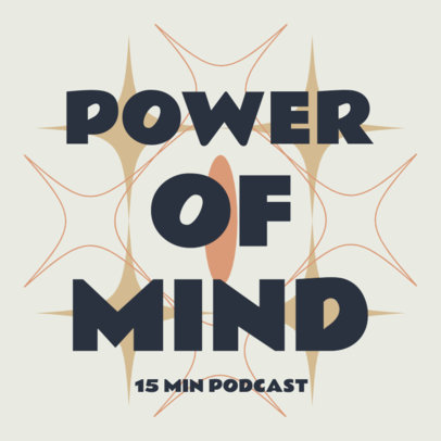 Cover Design Creator for a Podcast About the Mind 4417d