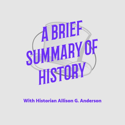 History-Themed Podcast Cover Design Template 4413f
