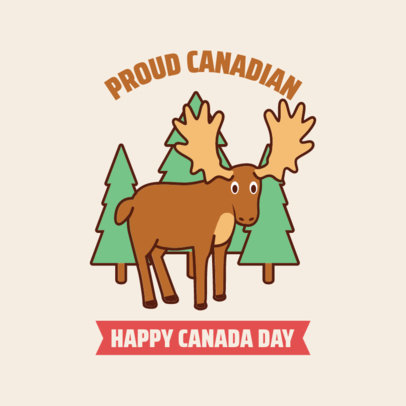 Instagram Post Generator Featuring a Moose for Canada Day 3777c