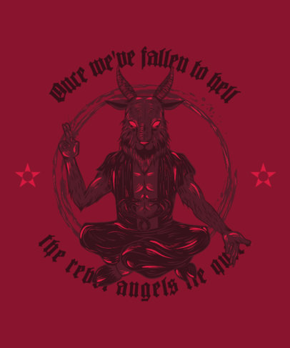 Satanic T-Shirt Design Maker Featuring a Baphomet Graphic 3767b