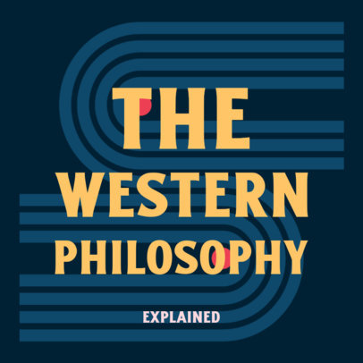 Podcast Cover Design Creator with a Western Philosophy Theme 4417e