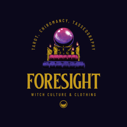 Esoteric Logo Generator for a Clothing Store Featuring a Crystal Ball Illustration 4406b
