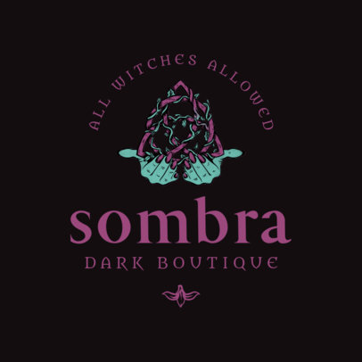 Apparel Boutique Logo Template With Witchcraft Themed Illustrations 4406g