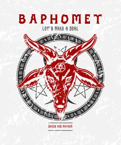 Esoteric T-Shirt Design Creator Featuring The Sigil of Baphomet 3765f