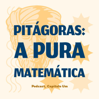 Podcast Cover Maker for a Math-Themed Show in Portuguese 4417j