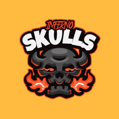 Logo Generator Featuring a Cartoonish Skull With Horns 4112e-el1