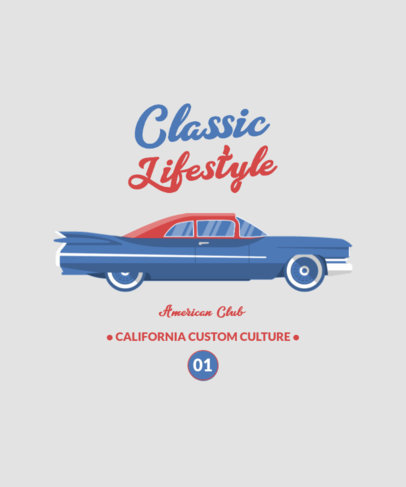T-Shirt Design Template Featuring Muscle Car Graphics 4098-el1