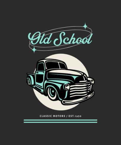 T-Shirt Design Maker for Car Collectors Featuring a Vintage Model 4100e-el1